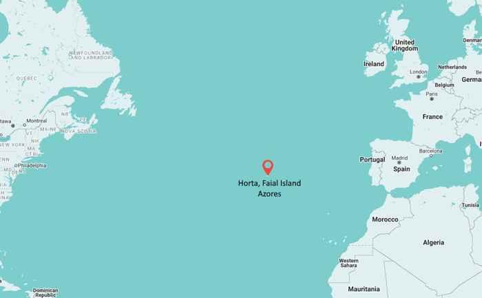 mapa de situación de Faial