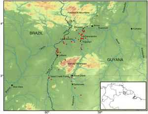 mapa de Rupununi