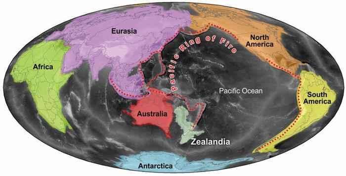 mapa de Zealandia