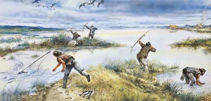 pesca en la Edad de Piedra
