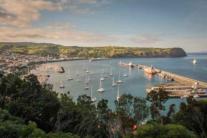 puerto de Horta en Faial, Azores