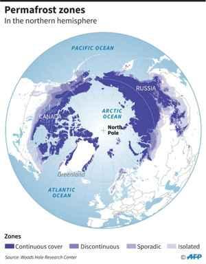 zonas de permafrost