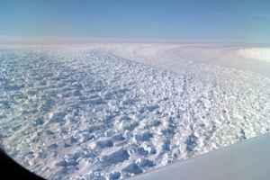 Glaciar Denman, vista aérea