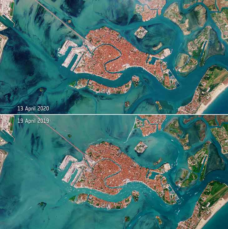Venecia durante el confinamiento por coronavirus