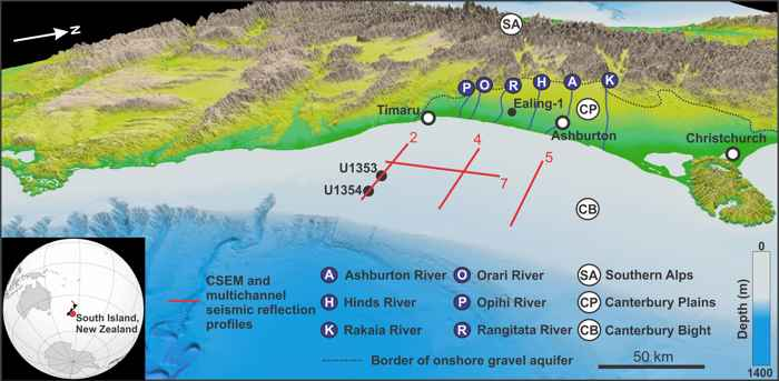 acuífero de agua dulce en Nueva Zelanda