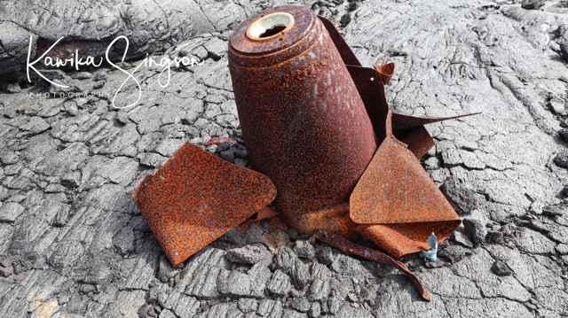 bomba en un volcán de Hawái