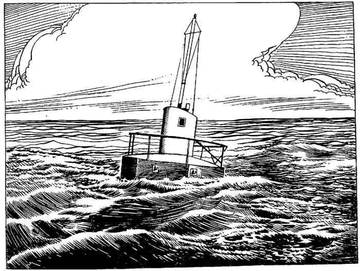 boya de rescate flotante