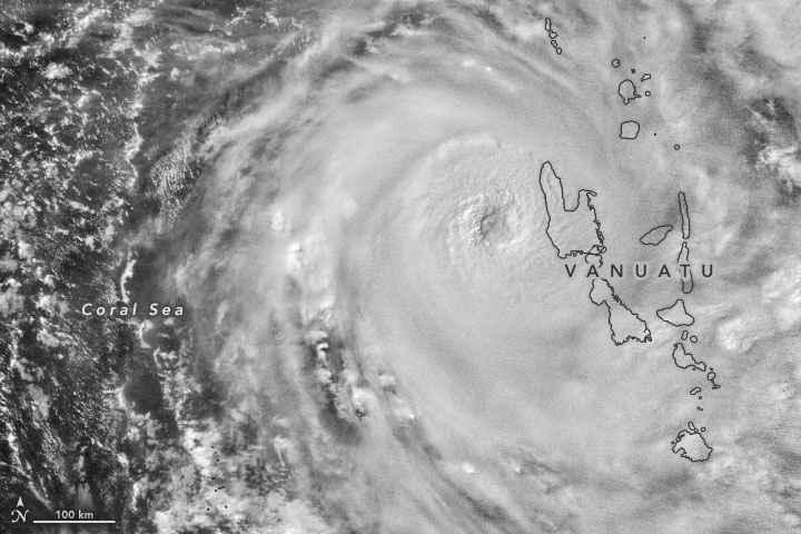 ciclón Harold desde satélite