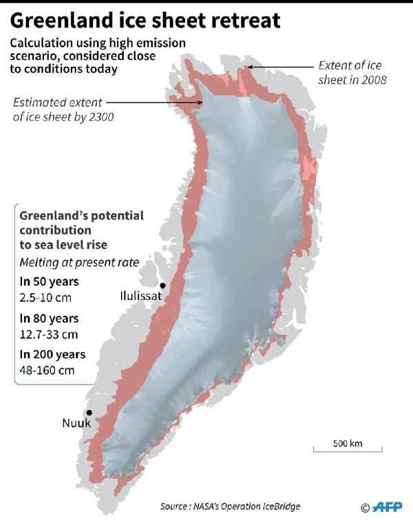 extensión de la capa de hielo de Groenlandia