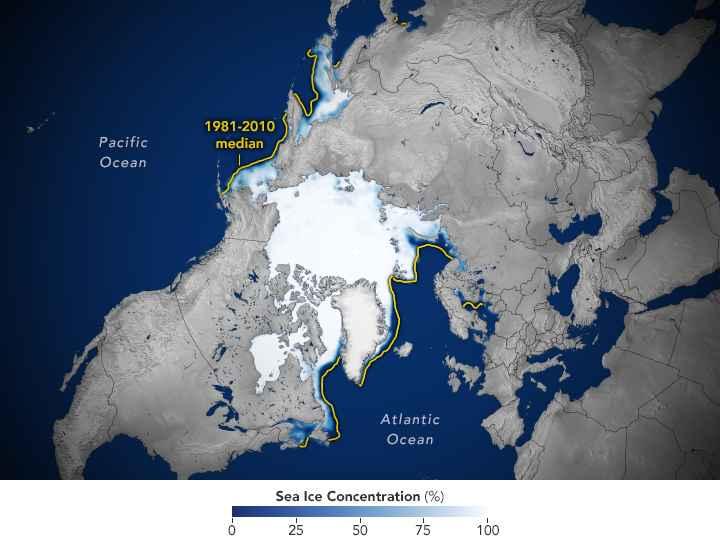 extensión del hielo marino en el Ártico
