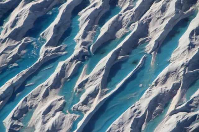 grietas en el hielo de Groenlandia