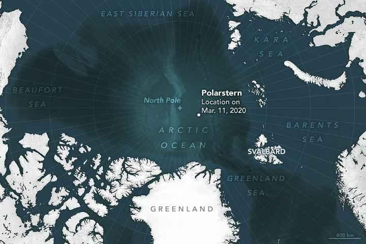 localización del rompehielos Polarstern