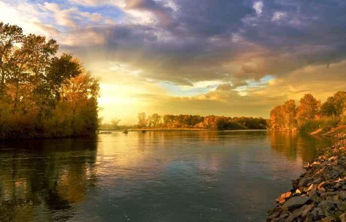 carbono de los ríos al océano