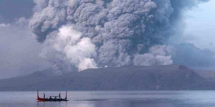 erupción del volcán Taal