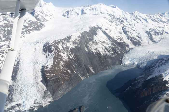 ladera Glaciar Barry, vista aérea