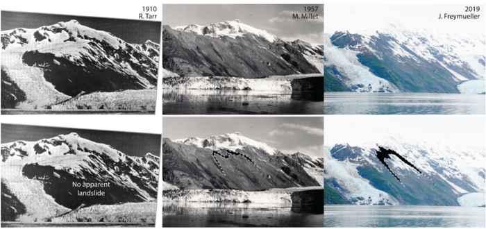 cambios en la ladera del Glaciar Barry