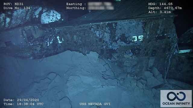 proa del USS Nevada