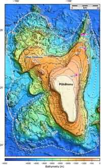 batimetría del volcán Pūhāhonu