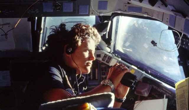 Sullivan en el transbordador Challenger
