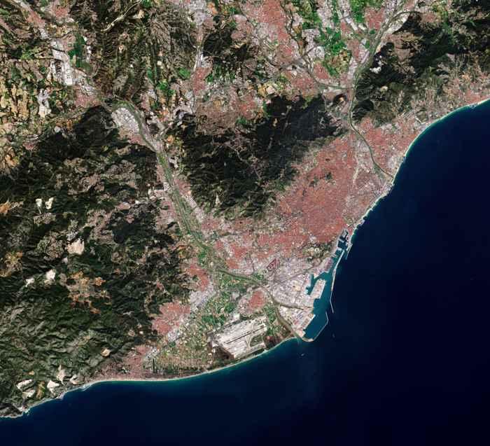 Barcelona desde satélite