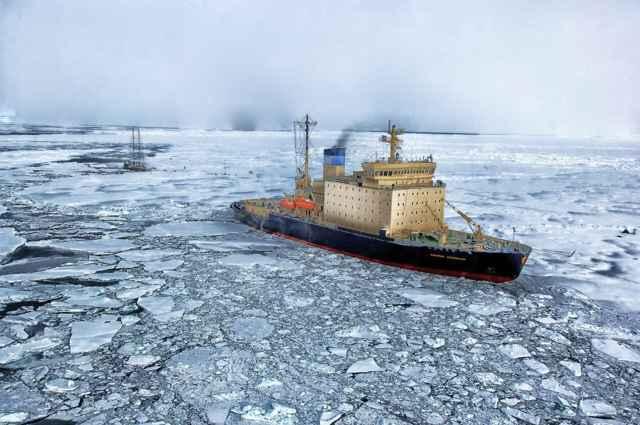 buque de investigación en el Ártico