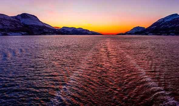 crucero en el mar de Noruega