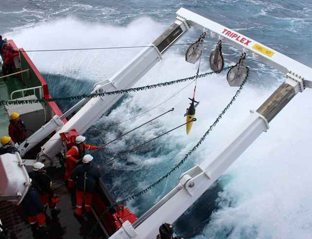 despliegue de  un robot oceánico