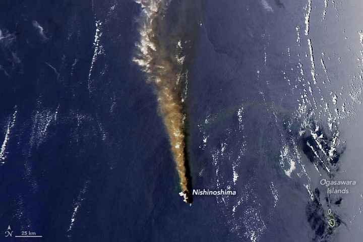 erupción de Nishinoshima