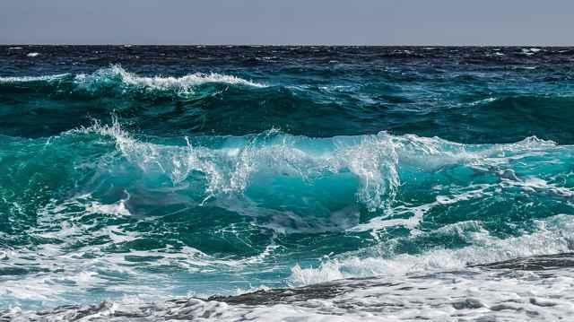 cambio de color en el océano