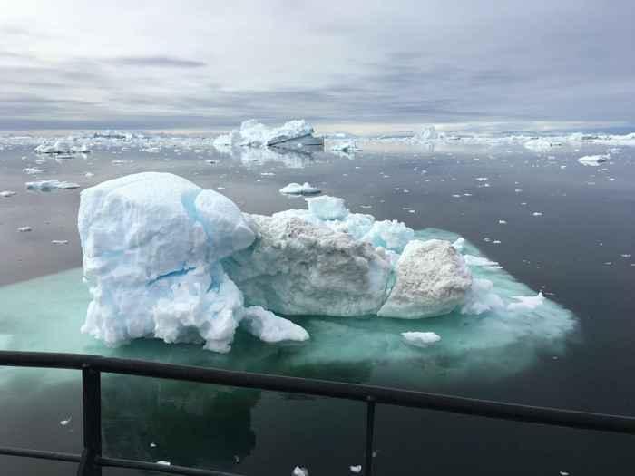 derretimiento de las capas de hielo en la Antártida