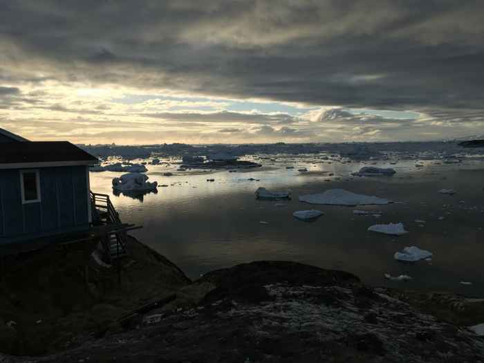 derretimiento capas de hielo en Groenlandia