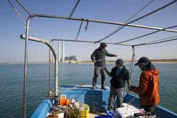equipo de la Morris Kahn Marine Research Station
