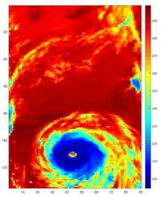 huracán visto por el AIRS