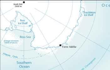 mapa de Terre Adelie