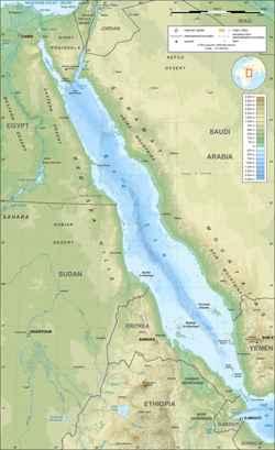 mapa del Mar Rojo