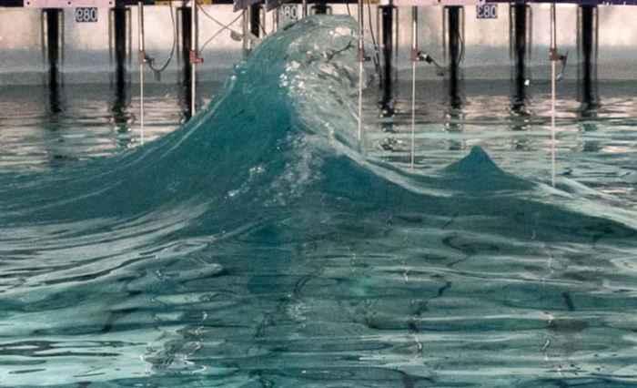 ola gigante de laboratorio