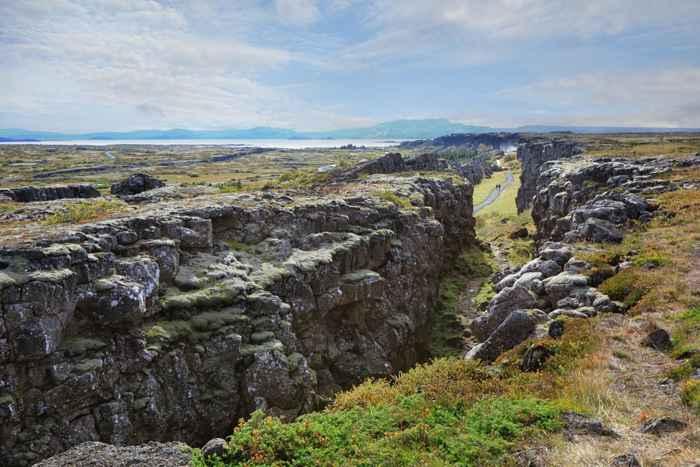 choque de placas en Thingvellir National Park, Islandia