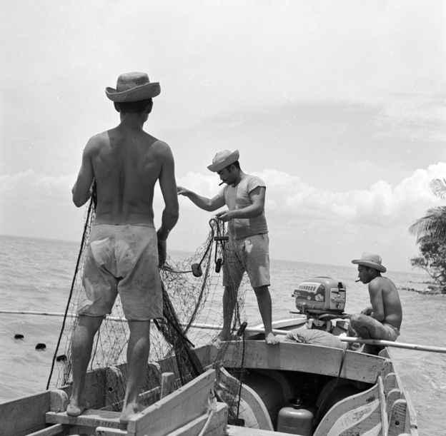turismo de pesca en Venezuela años 1950