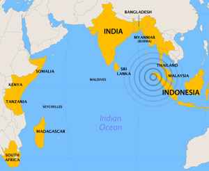 alcance del tsunami de 2004