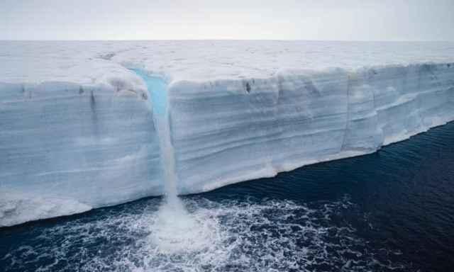 deshielo en un glaciar