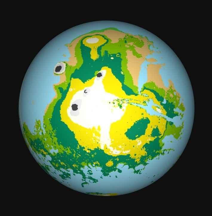 globo de Marte con agua