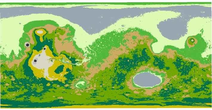 mapa de Marte con agua de Aaditya Raj Bhattarai