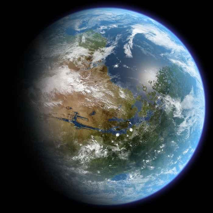 mapa de Marte con agua