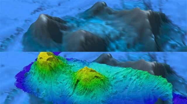 batimetría del fondo marino