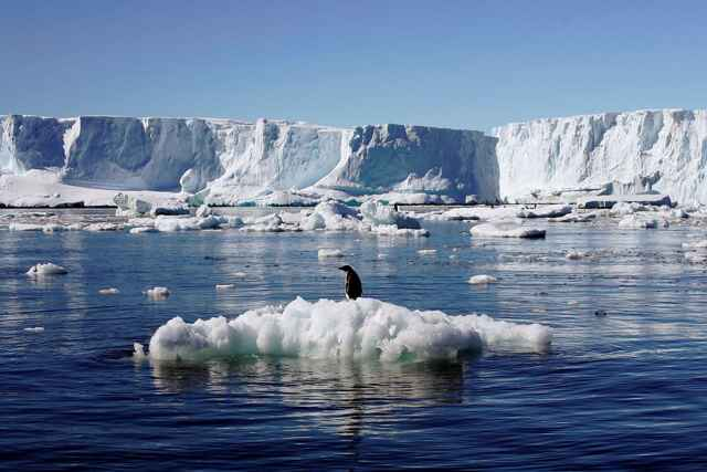 derretimiento de las capas de hielo