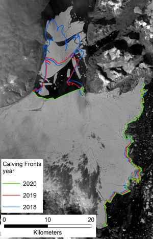 desintegración del glaciar Spalte
