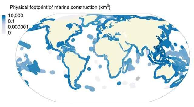 mapa de estructuras marinas