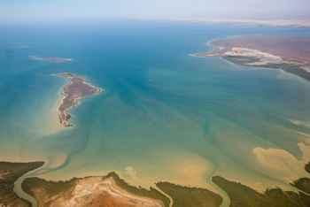 Gales Bay en Exmouth Gulf, Australia