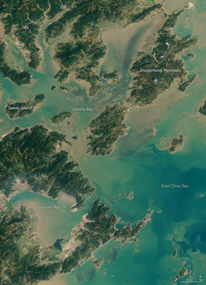 acuicultura en Sansha Bay, China