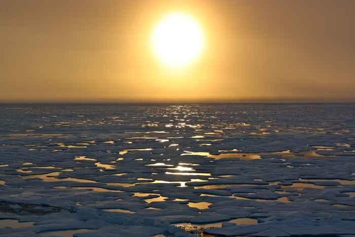 océano ártico libre de hielo marino